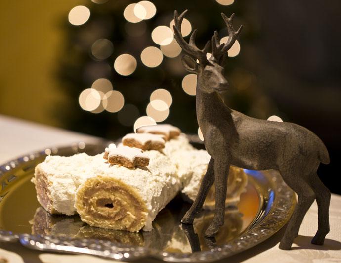 Bûche de Noël à la Crème de Marrons