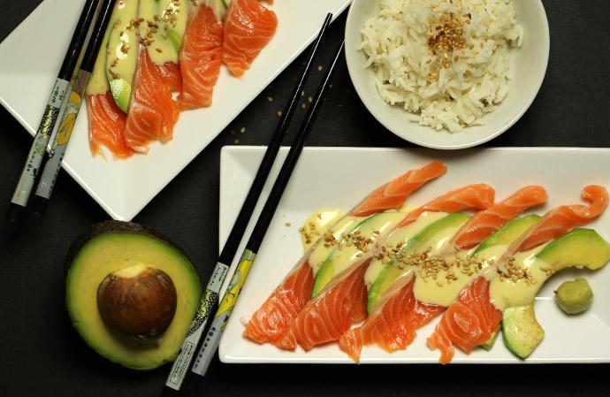 Lachs-Avocado-Sashimi