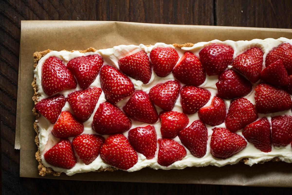 Erdbeer Mascarpone Tarte Ohne Backen Petit Appetit