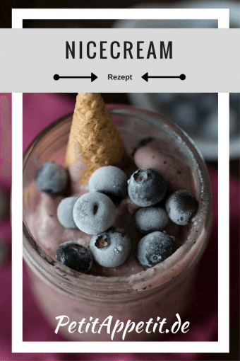 Nicecream with Blueberries